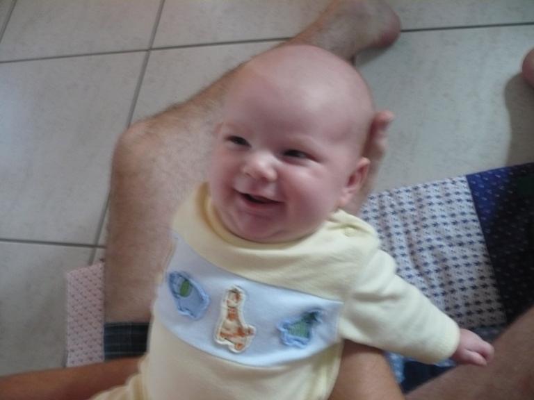 Luzie lächelt unscharf
